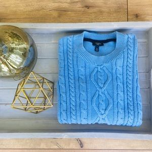 Talbots Cable-Knit Crew Neck Sweater